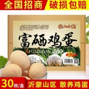 富硒鸡蛋30枚礼盒装 沂蒙山区散养鸡蛋 蒙山小院富硒鸡蛋厂家批发